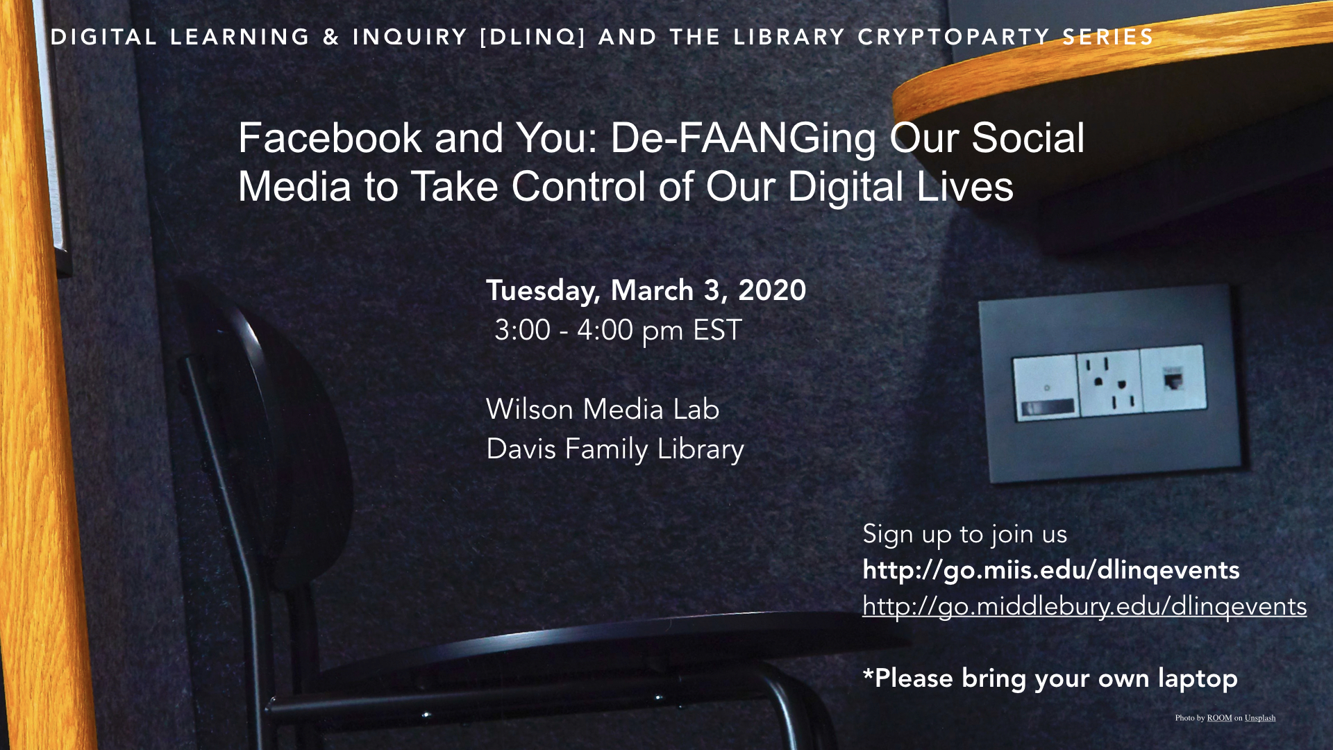 DLINQ and Library Facebook Cryptoparty
