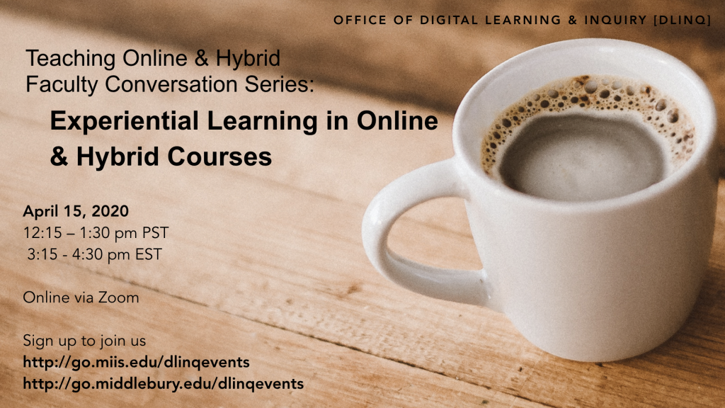 TOHCS: Experiential Learning in Online and Hybrid Courses