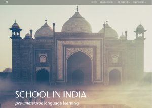 Screen shot of the Middlebury School in India pre-immersion website.
