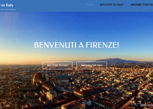 Screen shot of the Middlebury School in Italy pre-immersion website.