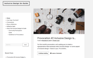screenshot of Inclusive Design UnGuide website