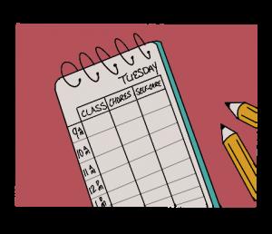Setting a schedule