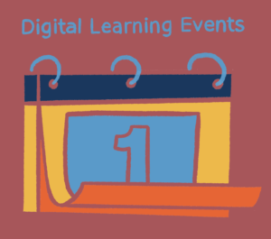 Illustration of a calendar flipping pages to represent Digital Learning Events