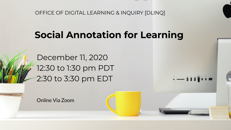 Social Annotation for Learning