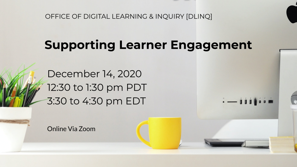 Supporting Learner Engagement