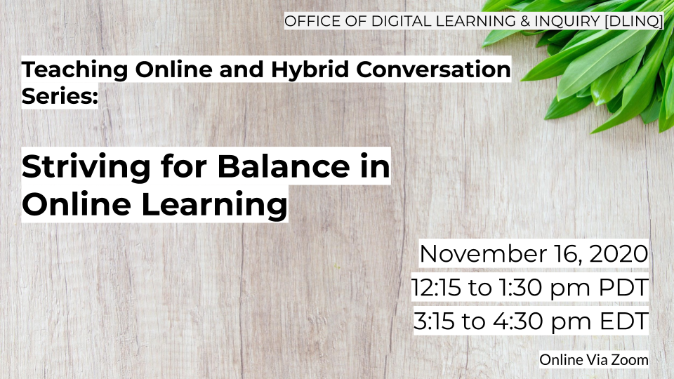Striving for Balance in Online Learning