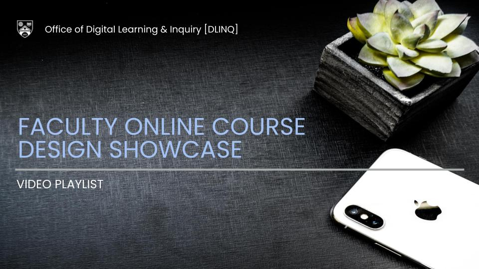 Faculty Online Course Design Showcase Video Playlist decorative image
