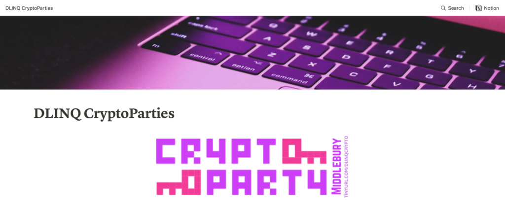 DLINQ Cryptoparties Resource Site Featured Image