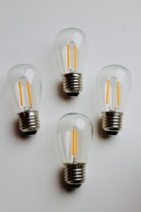 photo of four lightbulbs
