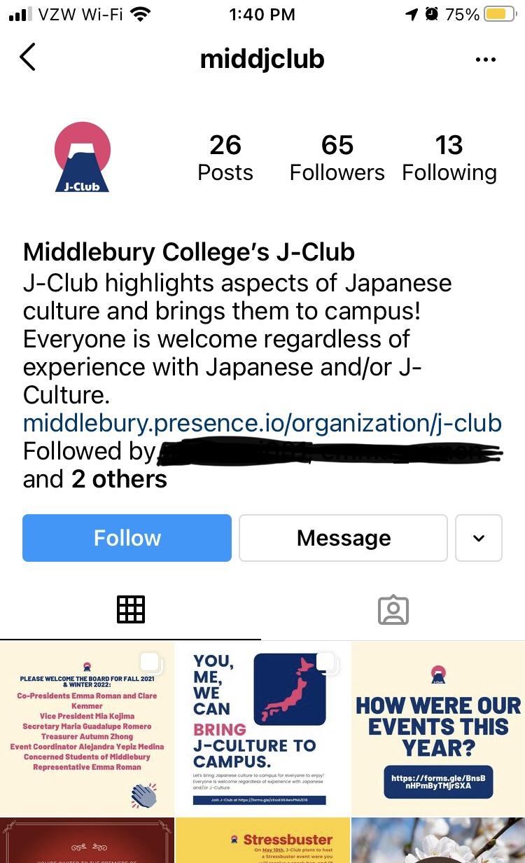 J-Club Instagram Biography